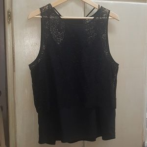 Sleeveless Lace Banana Republic Top